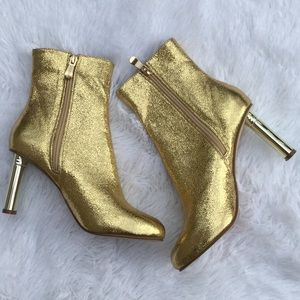 New Cape Robbin Athena Gold Bootie Ankle Boots